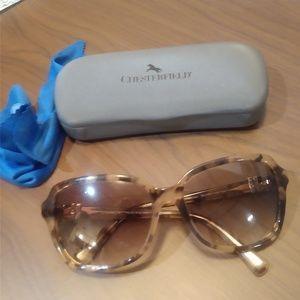 Coach Peach Tortoise Sunglasses Gold Accents